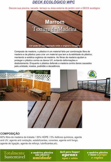 Piso Deck Madeira Plastica-oferta Promoção Kit 9 Peças