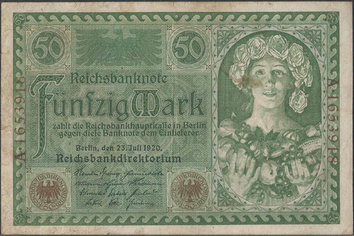 Alemania 50 Mark 23 Jul 1920 P68