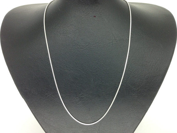 Cordão Corrente Veneziana Em Prata 925 Masculina 60cm 1,2mm