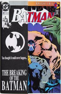 Batman 497 Portada Con Overlay (dc 1993) Knightfall Pt 11.
