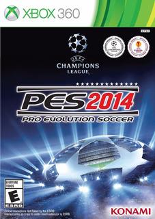 Pro Evolution Soccer 2014 Pes Xbox 360 Usado Blakhelmet C