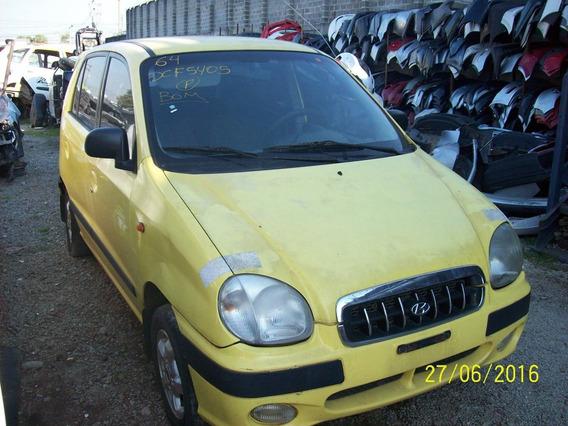 Hyundai Atos Sucata: Motor/grade/caixa/lataria/radio/roda