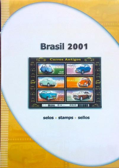 V-8507 Album De Selos Do Brasil 2001 - Sem Selos