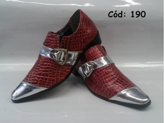 Sapato Social Artesanal Em Couro Mod:183;185;189;190;192