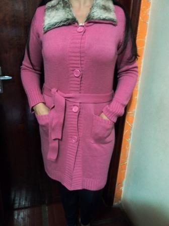 Lindo Sobretudo Lã E Pelos Importado Veste Do 40 Ao 44 (ak2)