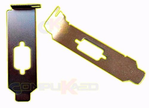 Imagen 1 de 2 de Bracket Baja Perfil Para Tarjeta Pci Serial Mini Case Chicos