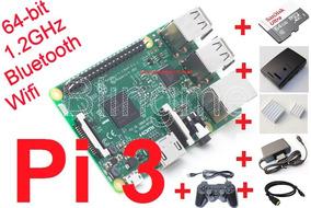 Kit Raspberry Pi3 (pi 3) Case+m64+dis+fte+joy+hdmi+fretegrat