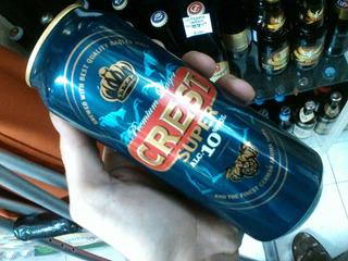 Cerveza Crest 10% 500cc Importada Inglaterra. X Caballito