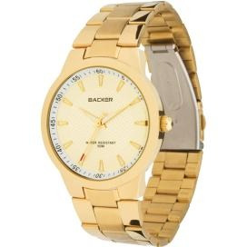 Relógio Backer Feminino Dourado 3025175m
