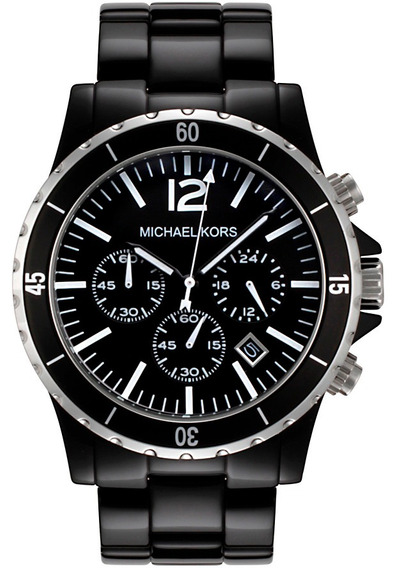 Relógio Michael Kors Mk8128 Madison Orig Chron Anal Black!!!