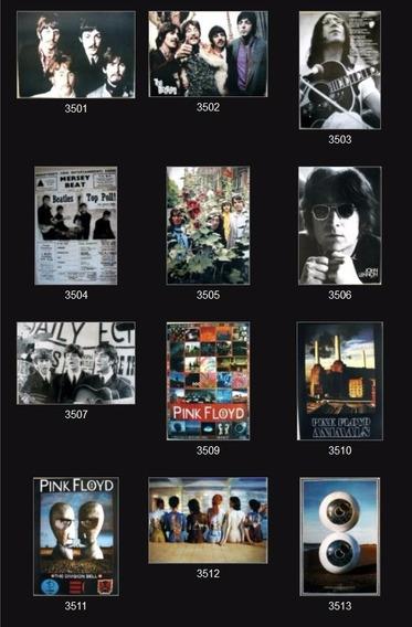 Poster Música Clásicos Marilyn Elvis Pink Floyd 50x32cm Deco