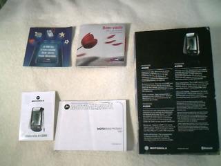 Cx Do Celular Motorola A1200i C/ Manuais