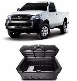 Caixa Baú Caçamba Bagageiro Toyota Hilux Simples Com Chave
