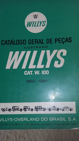 Catálogo Peças Willys/jeep/aero Willys 1960-1961 Semi Novo