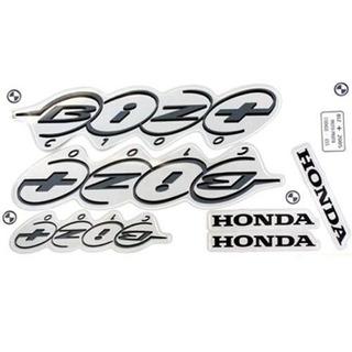 Adesivo Kit Honda Biz100+ 2005 Prata + Brinde