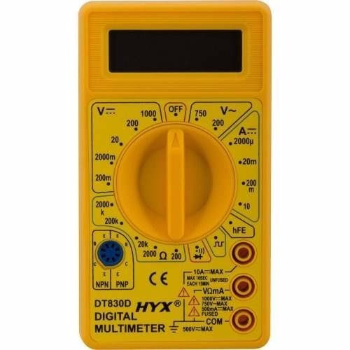 Multímetro Digital Portátil Dt830d Hyx - Display Lcd