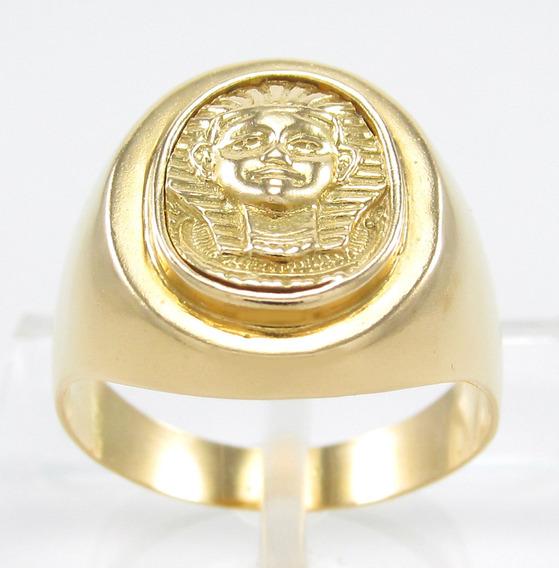 Esfinge Jóias - Anel Egípcio Esfinge Aro17 Ouro 18k 750.