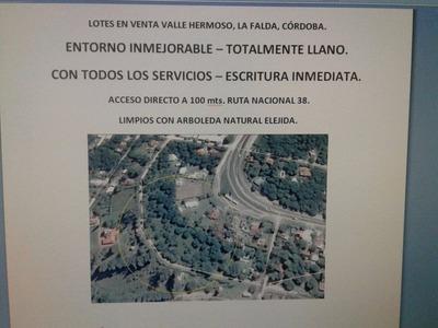 Lotes En Valle Hermoso-dueño Vende