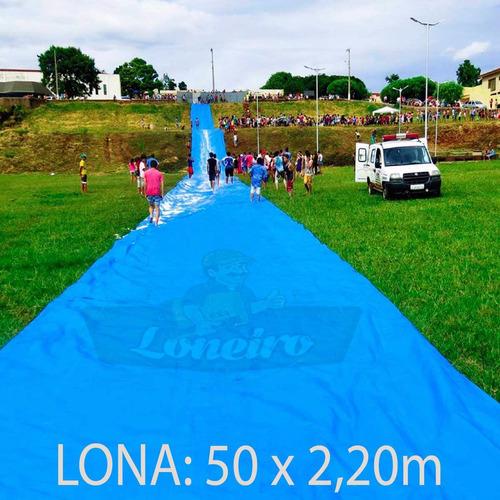 Imagem 1 de 6 de Lona 50x2,20 Ski Bun Escorregador Esqui Escorrega + Ilhoses
