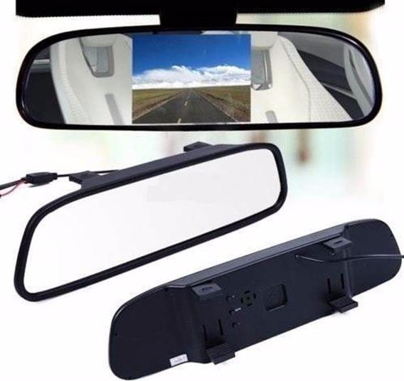 Espelho Retrovisor Monitor Para Câmera De Ré Tft Lcd 4.3