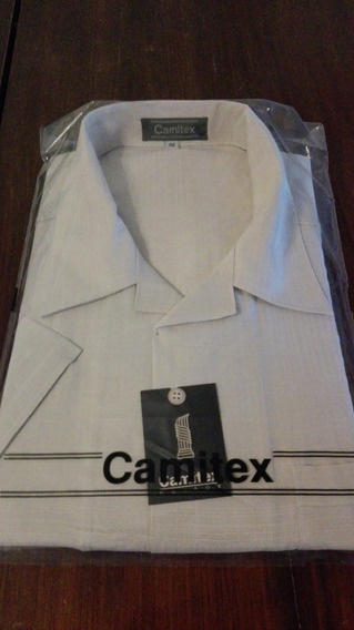 Camisa Marca Camitex Talle 48 Color Beige