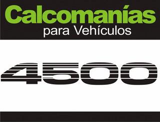 Calcomanía 4500 Toyota Burbuja Incluye El Par