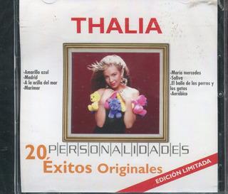 Thalia Disco Cd Personalidades. 20 Exitos Originales