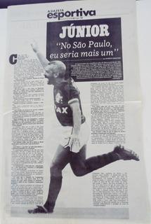 A Gazeta Esportiva 31/10/1992 - Entrevista Junior(flamengo)
