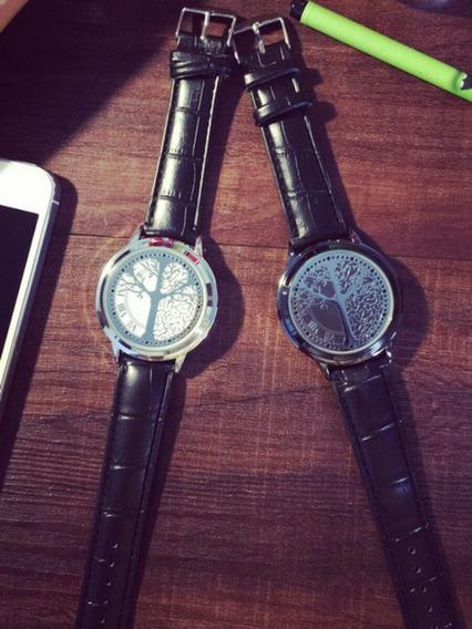 Relógio Unissex Com Luzes De Led