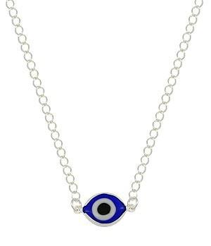 Gargantilha Folheada A Prata Com Olho Grego (linha Esotérico