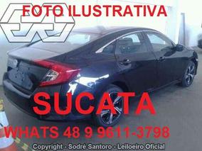 Sucata Novo Civic 2.0 Ex Ctv G10 Automático 2017 Completo