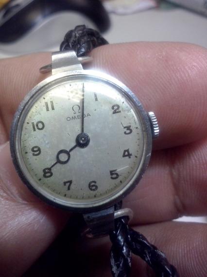 Relógio Omega Feminino - A Corda - Com Pulseira De Couro