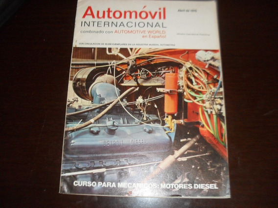 Revista Antiga Abril 1970 Automovil Internacional
