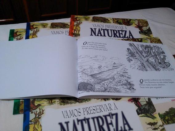 Livro De Colorir Com História Fascinante Sobre A Natureza