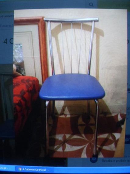 4 Cadeiras De Metal Novas Sem Uso Só $125 Cada