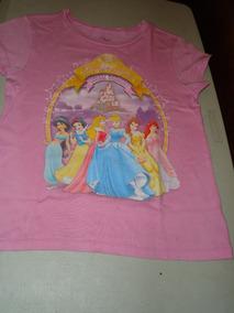 Playera Niña Marca Disney Princesas,talla L 10 12 En Rosa