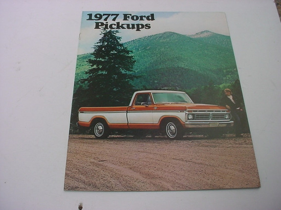 Folder Ford F100 F-100 Pickup Picape 1977 77 Americana Lindo