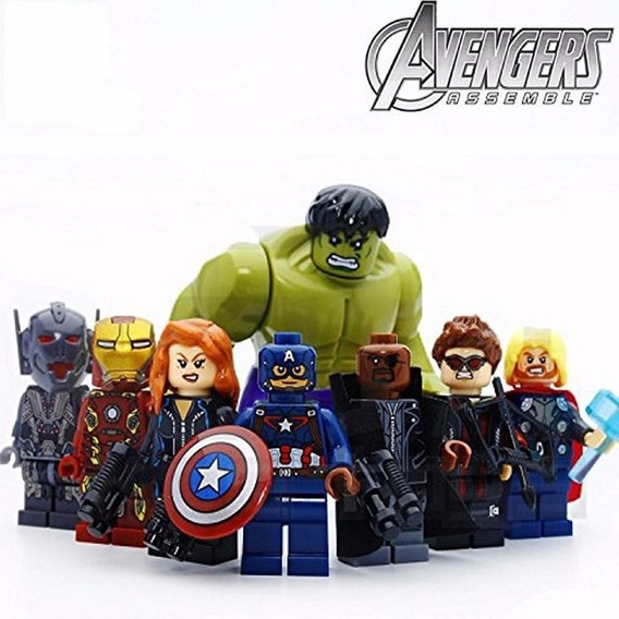 Bonecos Miniaturas Super Heróis Kit 8 Personagens Oferta S