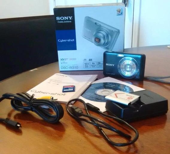 Câmera Digital Cyber Shot Sony - Kit Completo