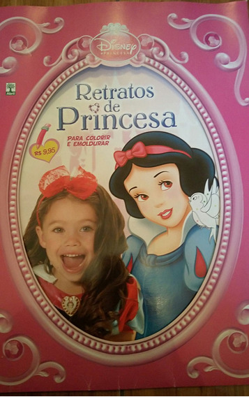 Revista Gigante Para Colorir Princesas Disney