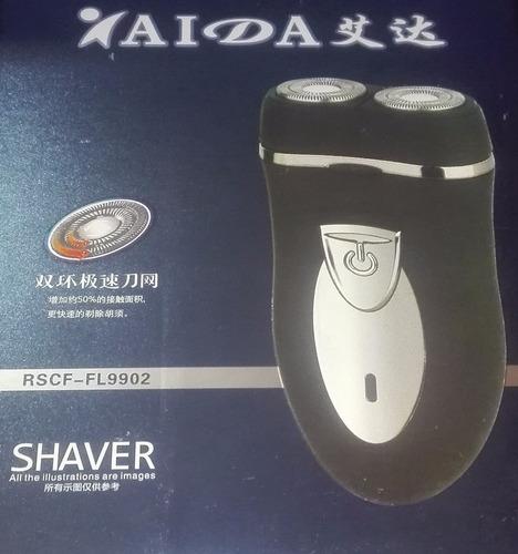 Afeitadora Rasuradora De Barba Recargable Doble Cabezal