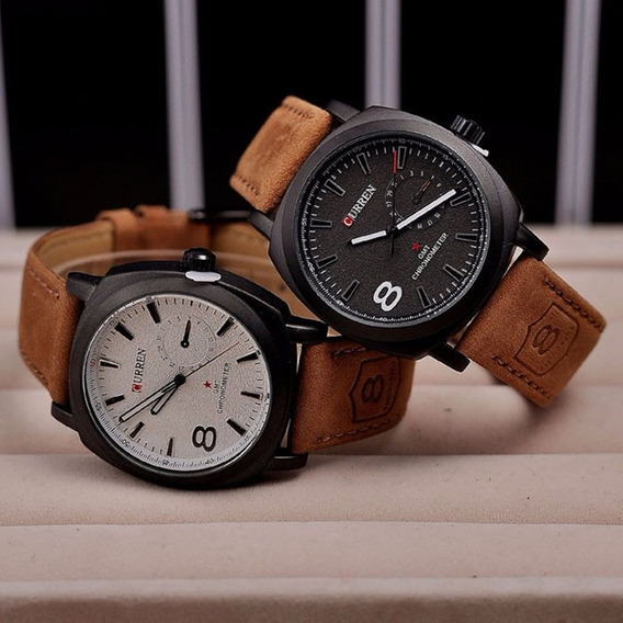 Relógio Masculino Barato Original Pulseira De Couro Pu