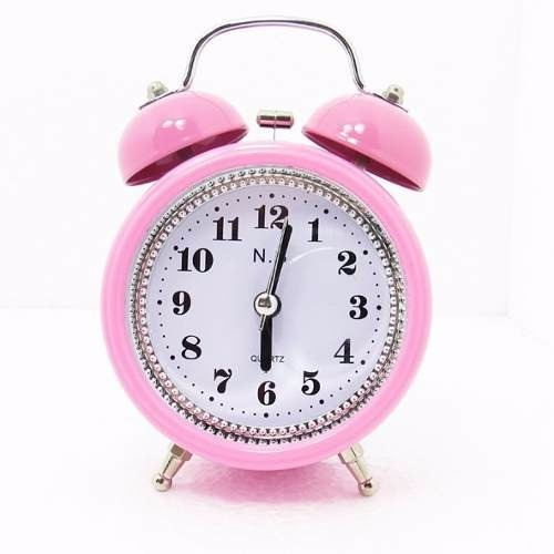Tradicional Relógio Despertador Analógico - 2 Sinos Metal