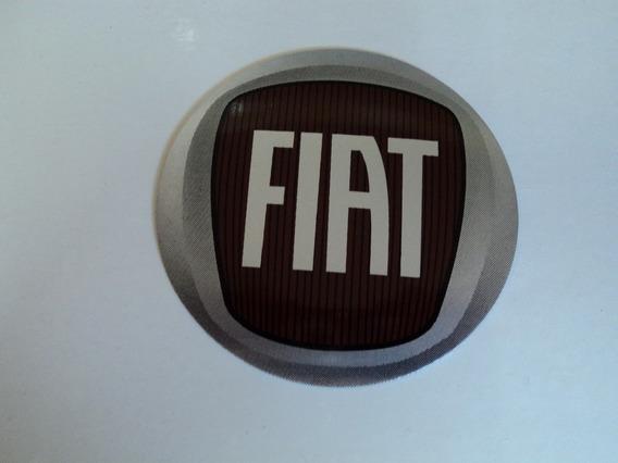 Emblema Fiat Adesivo Para Rodas Esportivas 90mm