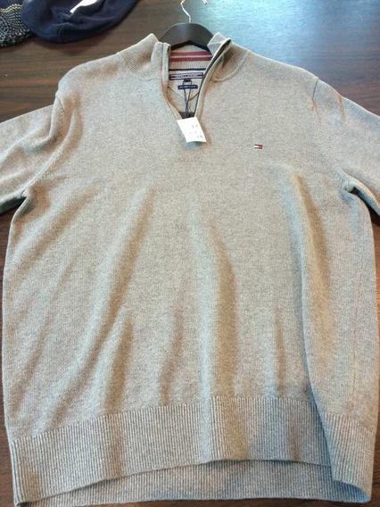 Blusa-jaqueta De Tricô Tommy Hilfiger Original