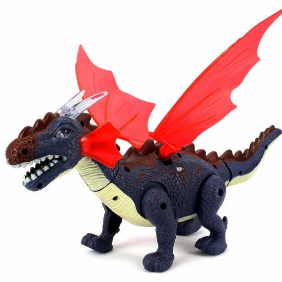 Dragão Dinossauro. Anda, Acende Luzes. Emiti Sons Brinquedo.