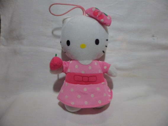 Hello Kitty Pelúcia Sanrio Usada 15 Cm