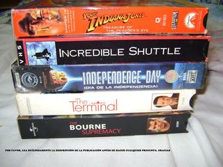 Vhs Indiana Jones, Volver Al Futuro, The Terminal Mas
