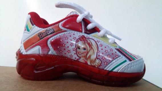 Tênis Barbie Branco/vermelho, Com Luz,