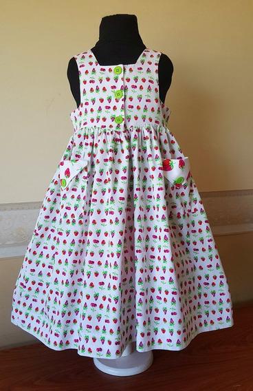 Vestido Importado Nena Verano 5-6 Años San Francisco Usa